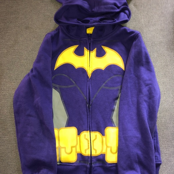 NEW FROM BATMAN AUTHENTIC Hoodie Sweater Girls XL ,M 14//16 7//8